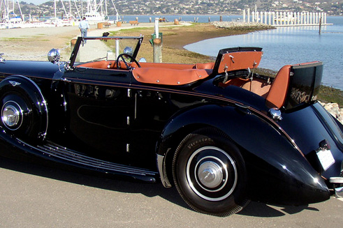 1938 Derby Bentley Carlton Convertible - Chassis #B44MR